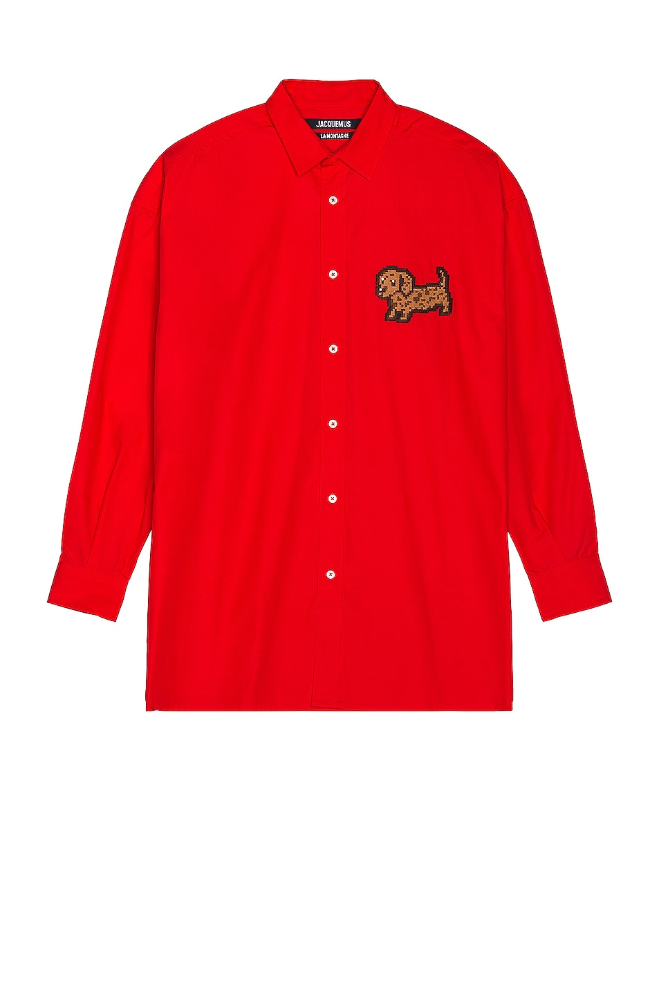 Image 1 of JACQUEMUS La Chemise Toutou in Red