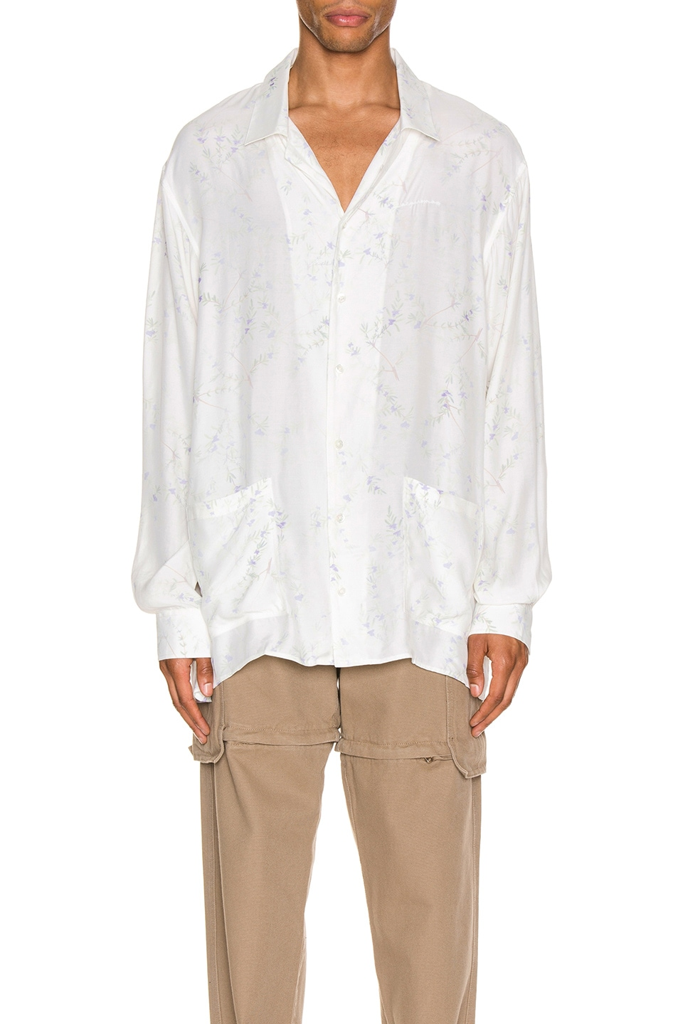 Image 1 of JACQUEMUS Etienne Shirt in White