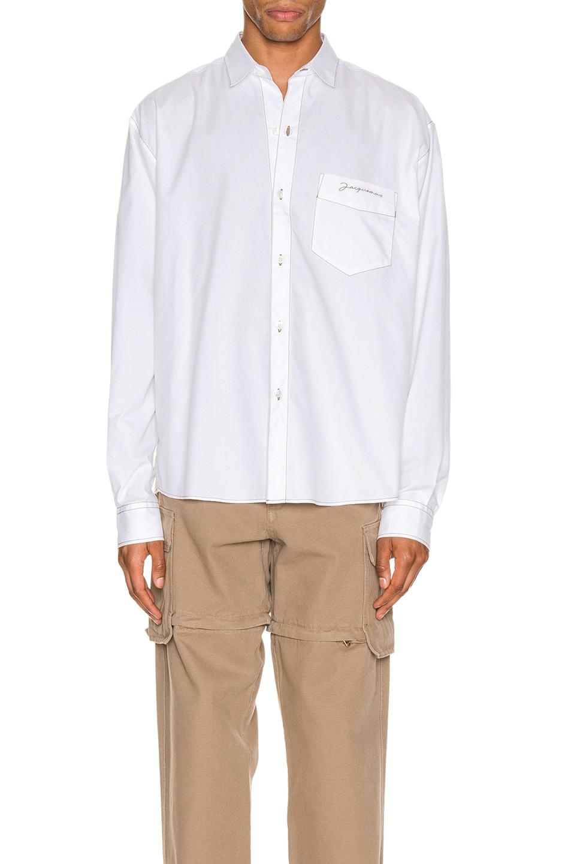 Image 1 of JACQUEMUS Simon Shirt in White
