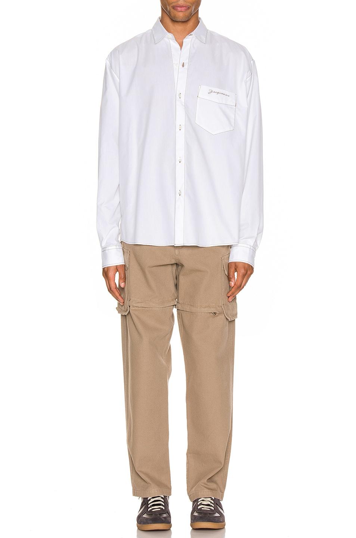 Image 4 of JACQUEMUS Simon Shirt in White