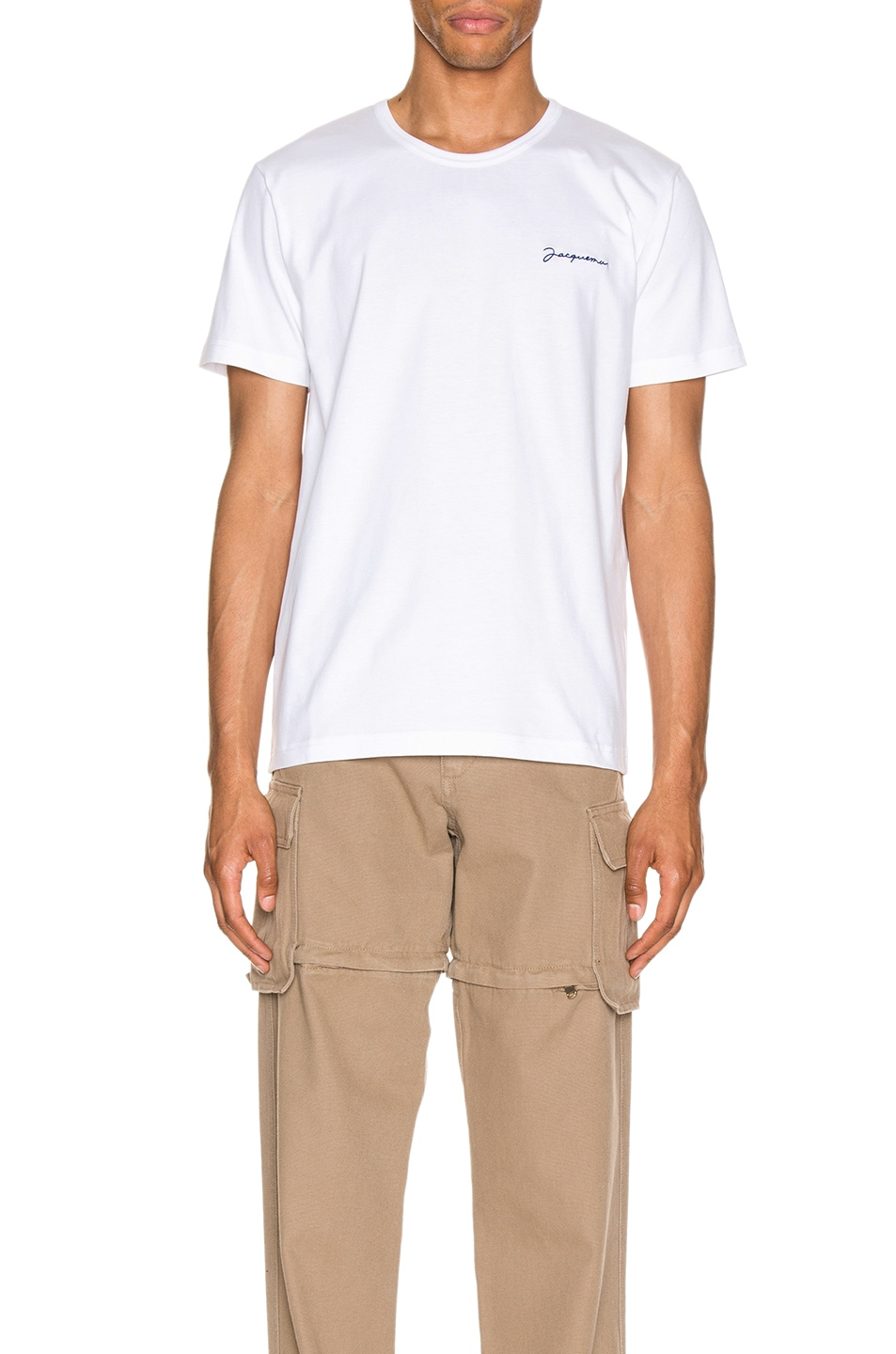 Image 1 of JACQUEMUS Logo Tee in Off White