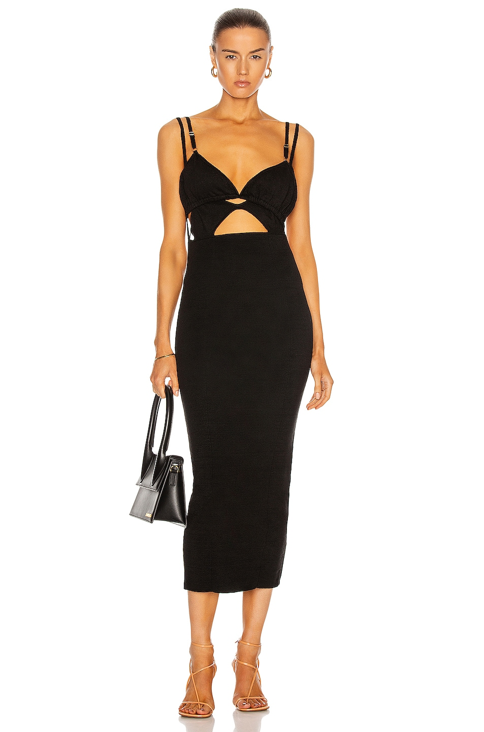 Image 1 of JACQUEMUS La Robe Pila in Black