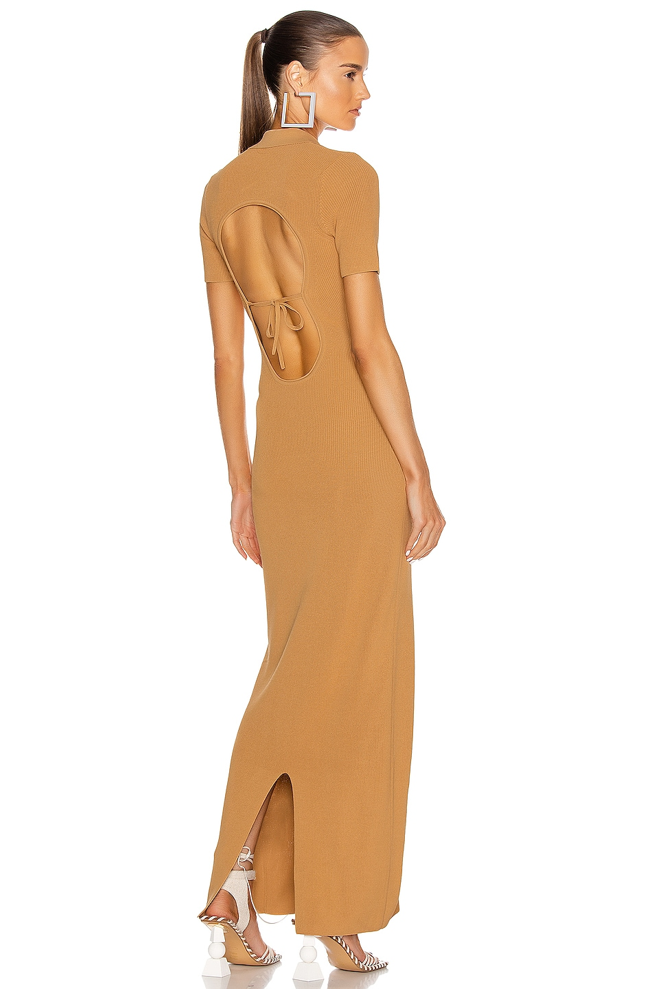 Image 1 of JACQUEMUS La Robe Maille Polo in Dark Yellow
