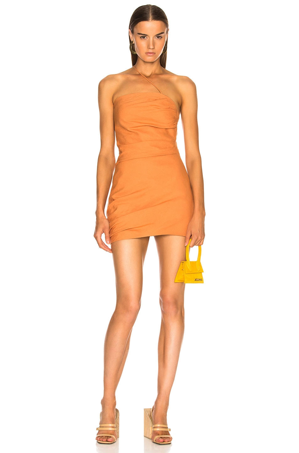 6a6a7638a2e5 Image 1 of JACQUEMUS Brella Dress in Orange