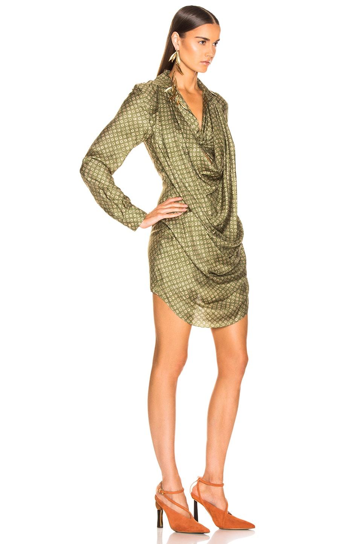 Image 2 of JACQUEMUS Saabi Dress in Green Polka Dots