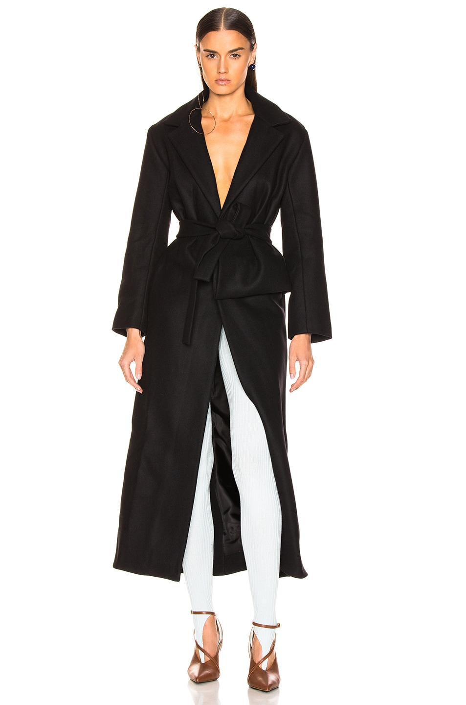 Image 1 of JACQUEMUS Aissa Trench Dress in Black