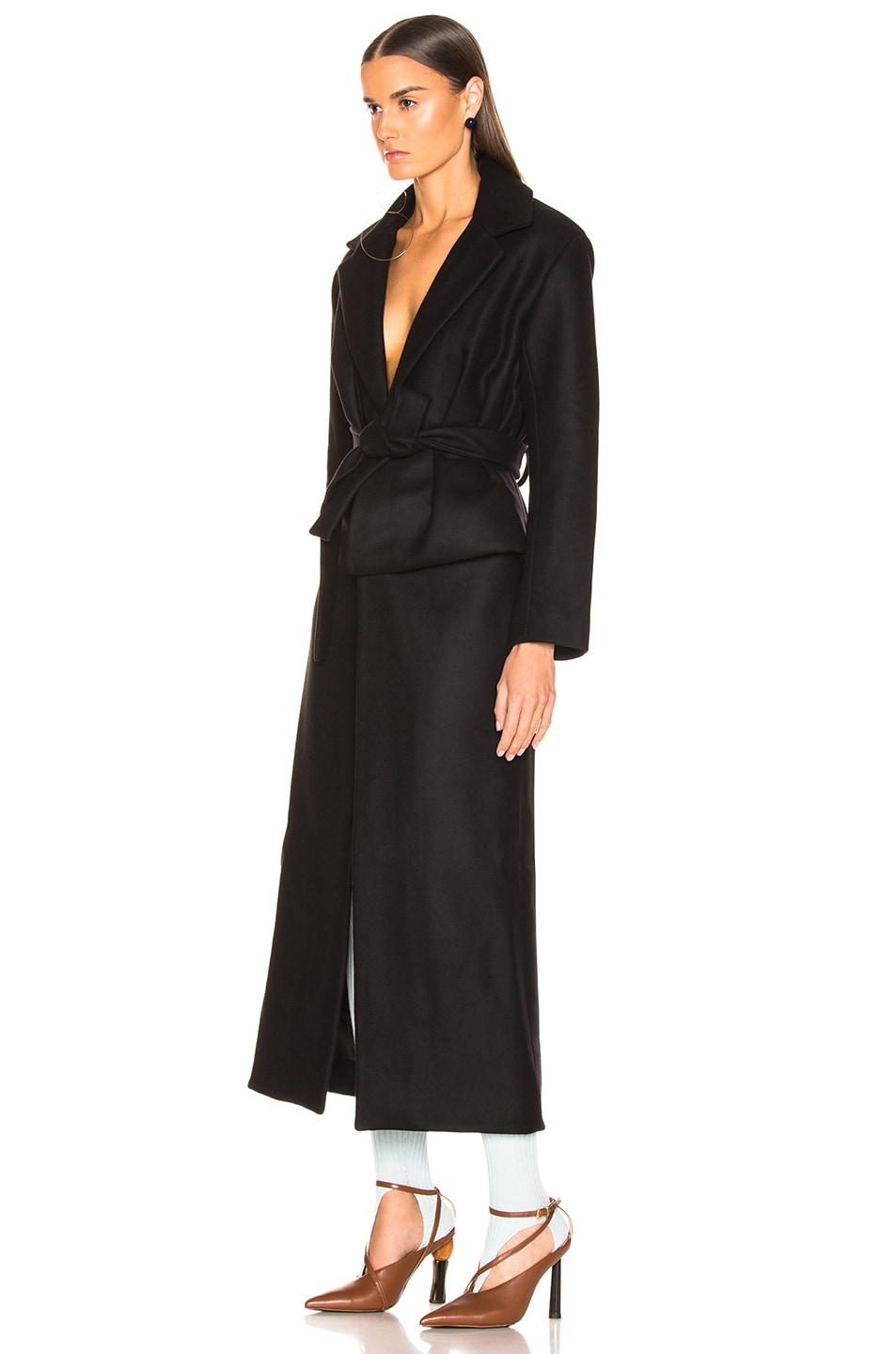 Image 3 of JACQUEMUS Aissa Trench Dress in Black