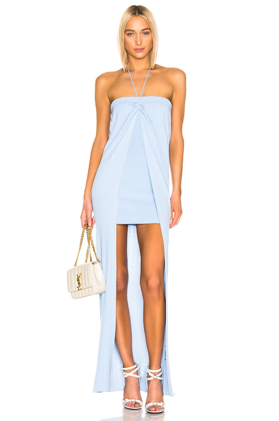 Image 1 of JACQUEMUS Siena Dress in Light Blue
