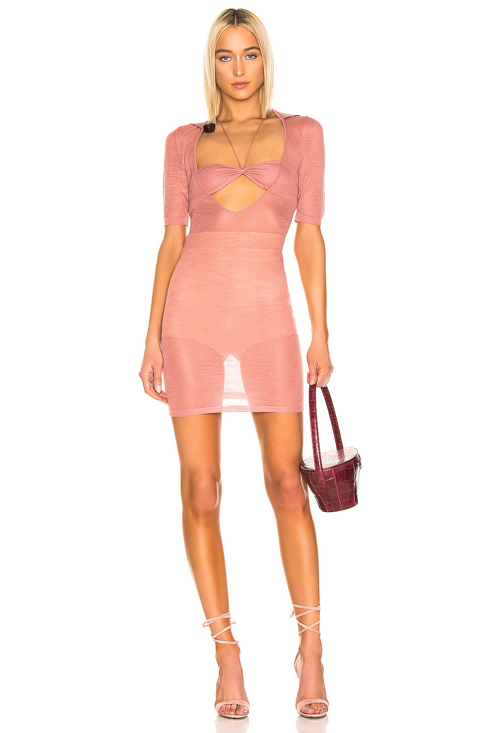 Image 1 of JACQUEMUS Piana Dress in Rosewood