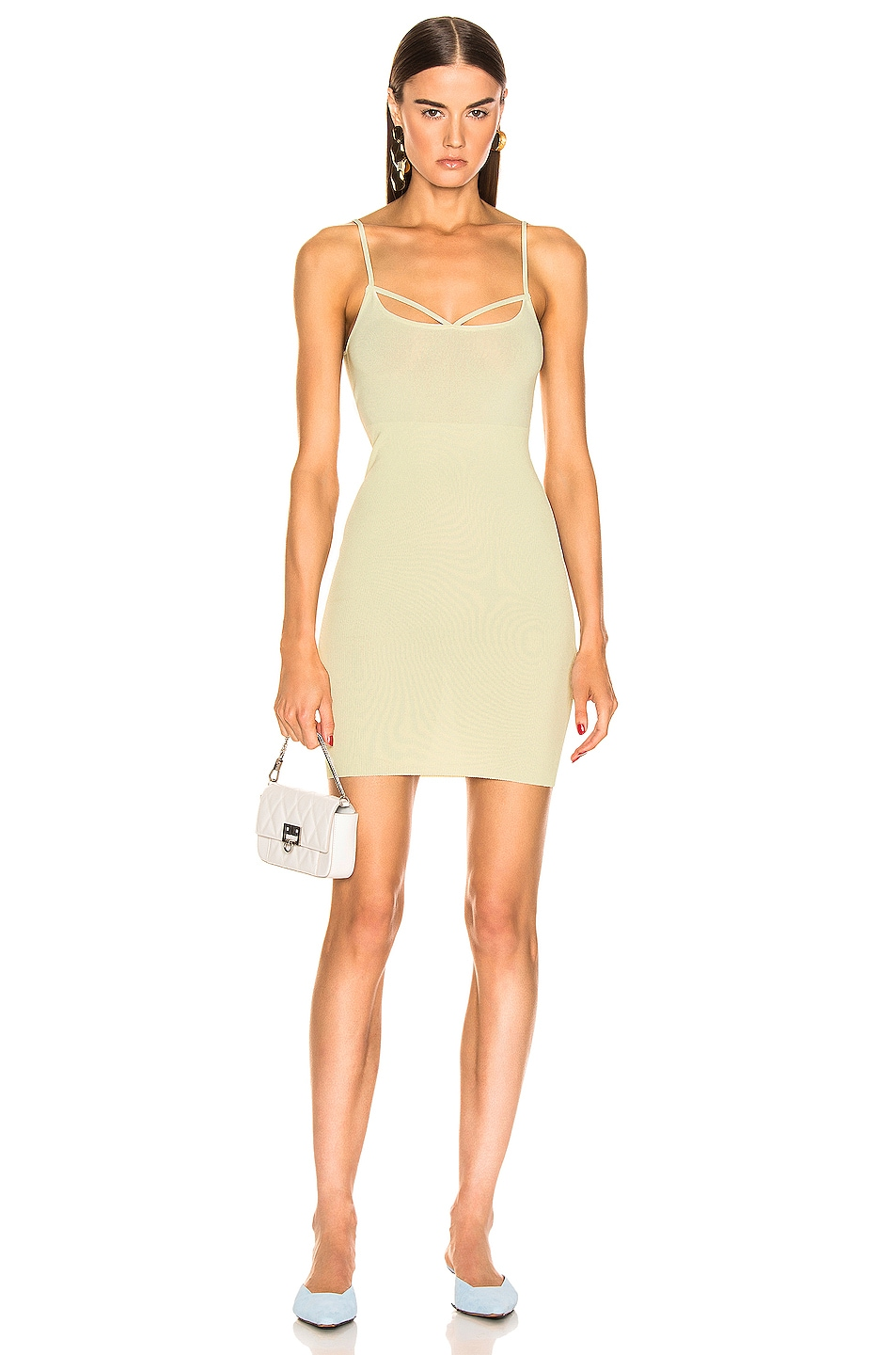 Image 1 of JACQUEMUS Dolceaqua Dress in Almond Green