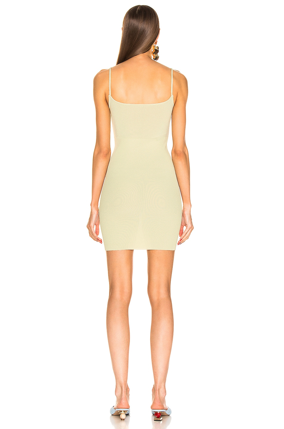 Image 3 of JACQUEMUS Dolceaqua Dress in Almond Green
