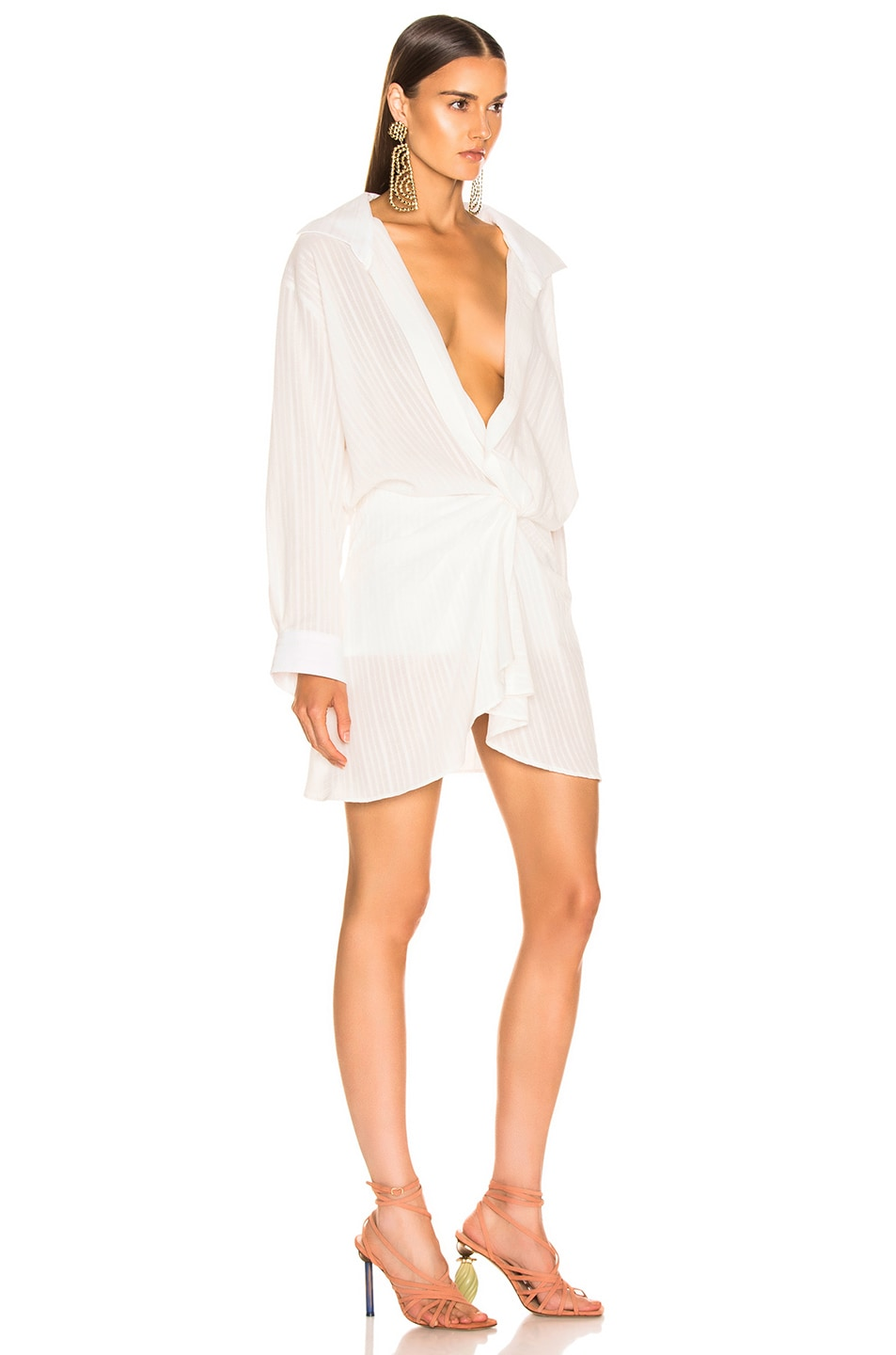 Image 2 of JACQUEMUS Alassio Dress in Off White