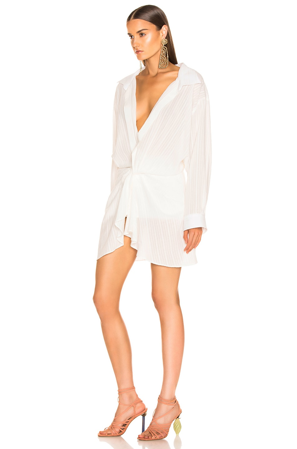 Image 3 of JACQUEMUS Alassio Dress in Off White
