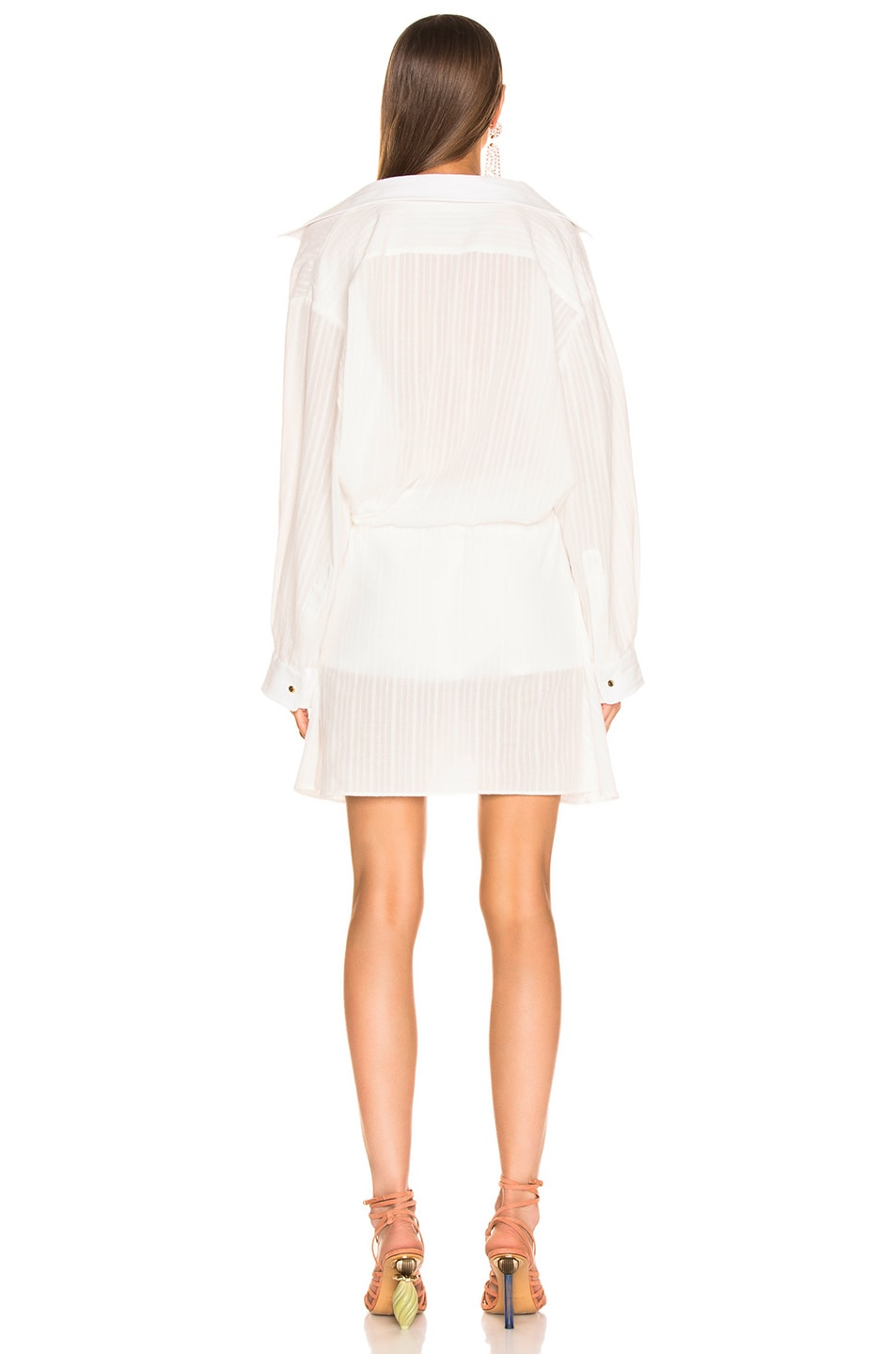 Image 4 of JACQUEMUS Alassio Dress in Off White
