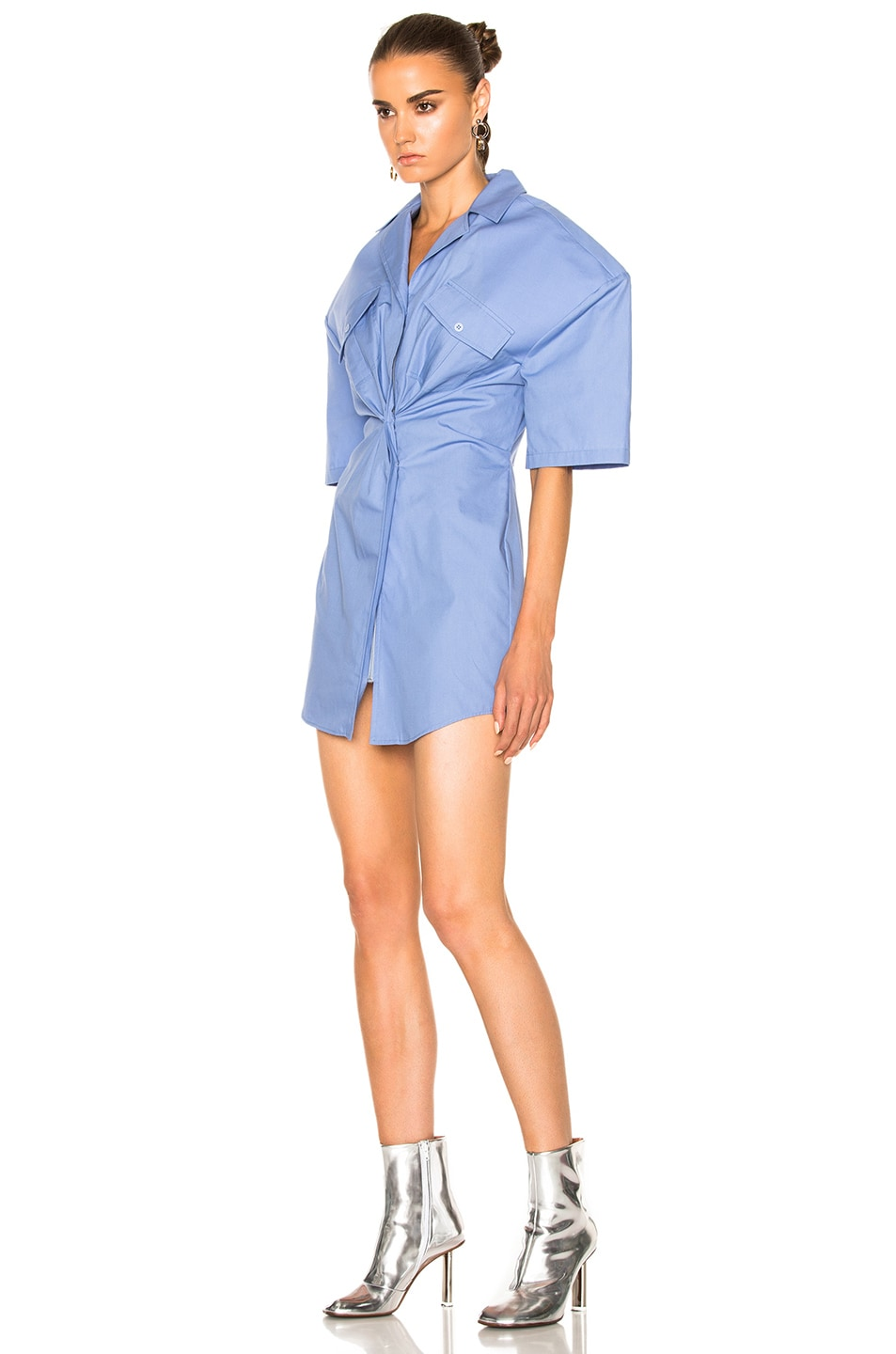 Image 2 of JACQUEMUS Uniform Dress in Sky Blue
