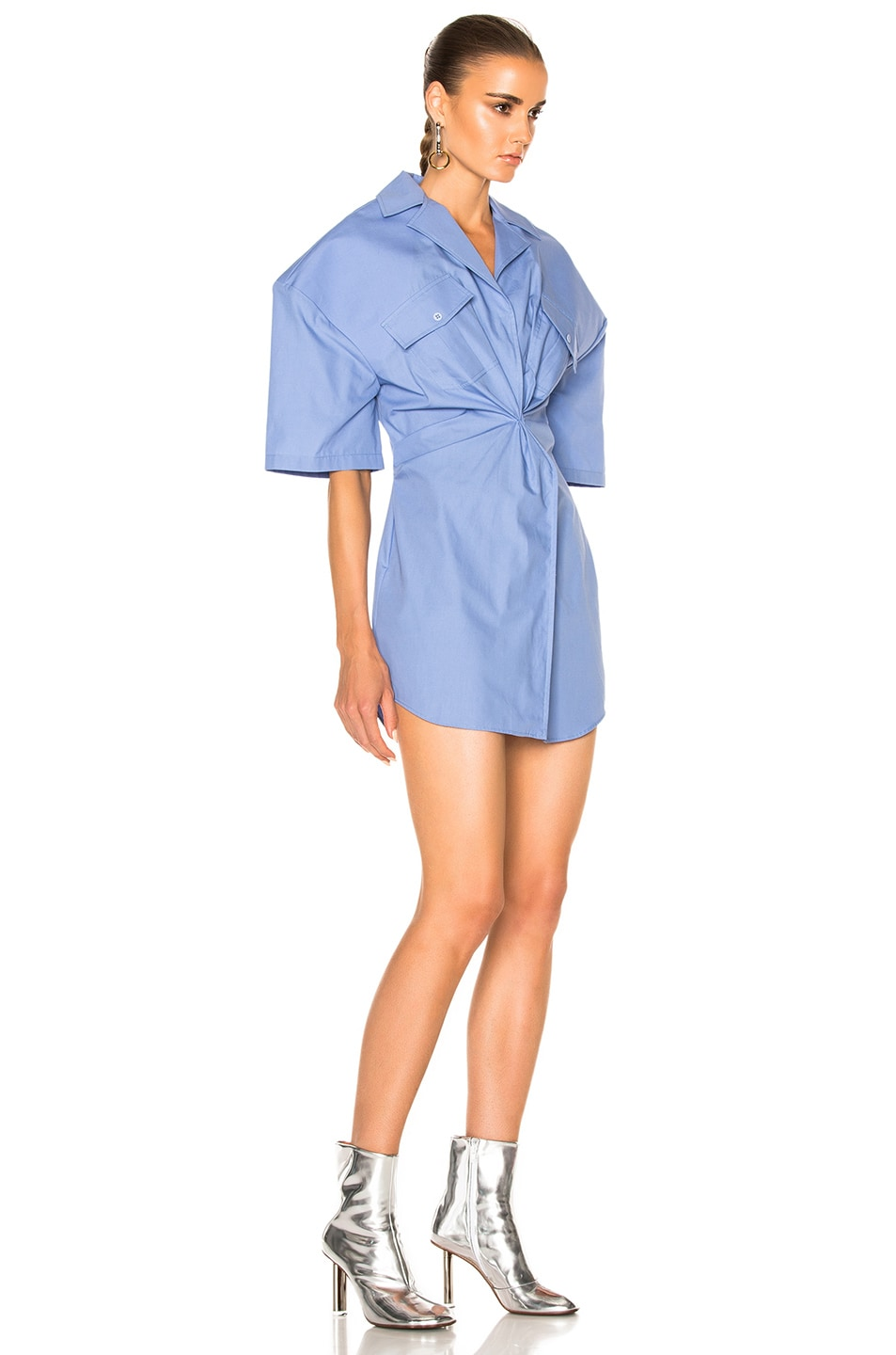 Image 3 of JACQUEMUS Uniform Dress in Sky Blue