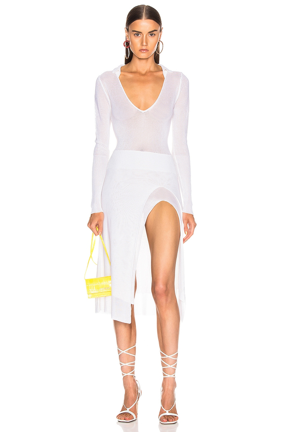 Image 1 of JACQUEMUS Notte Dress in White