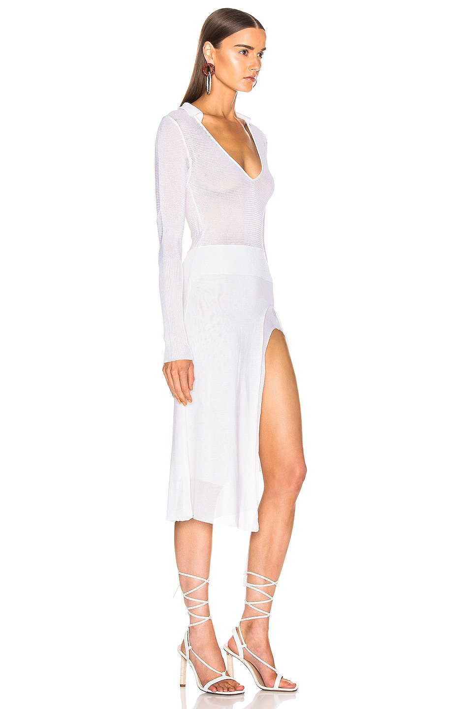 Image 2 of JACQUEMUS Notte Dress in White