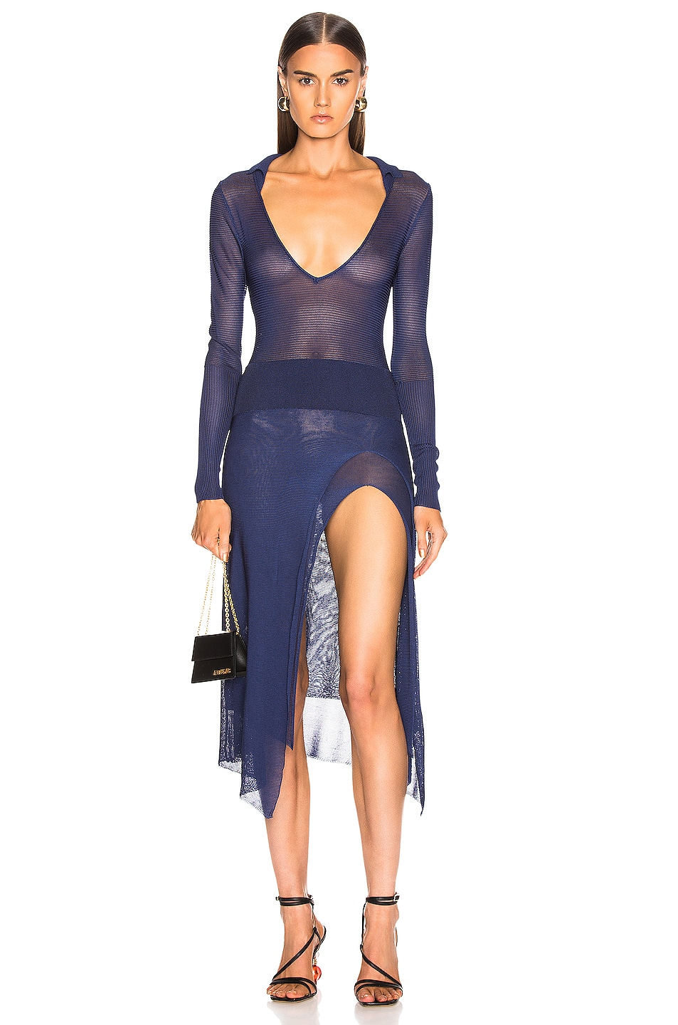 Image 1 of JACQUEMUS Notte Dress in Navy