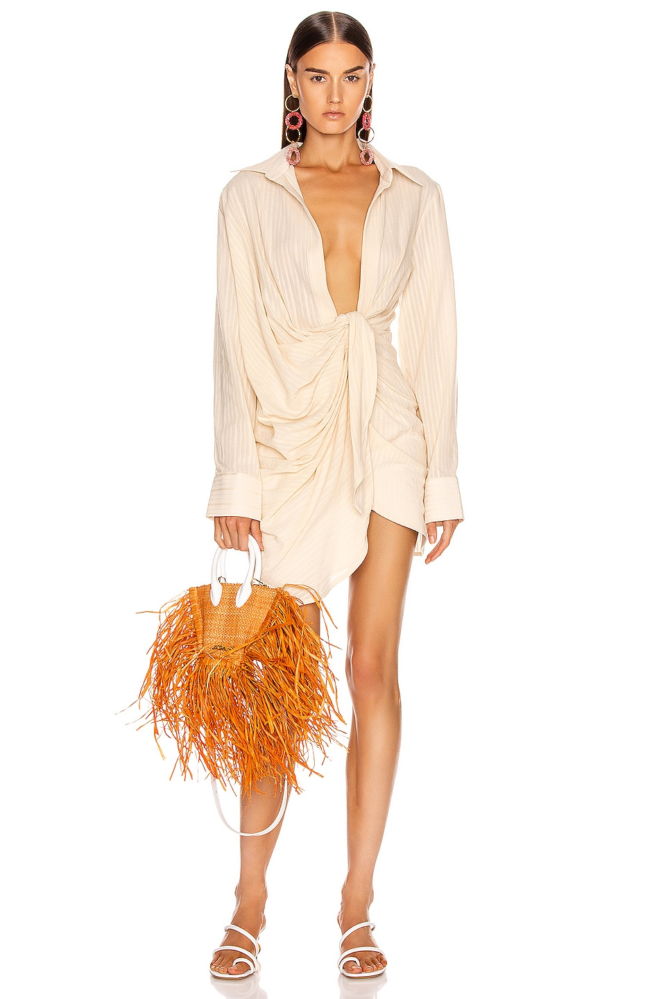 Image 1 of JACQUEMUS Bahia Dress in Beige