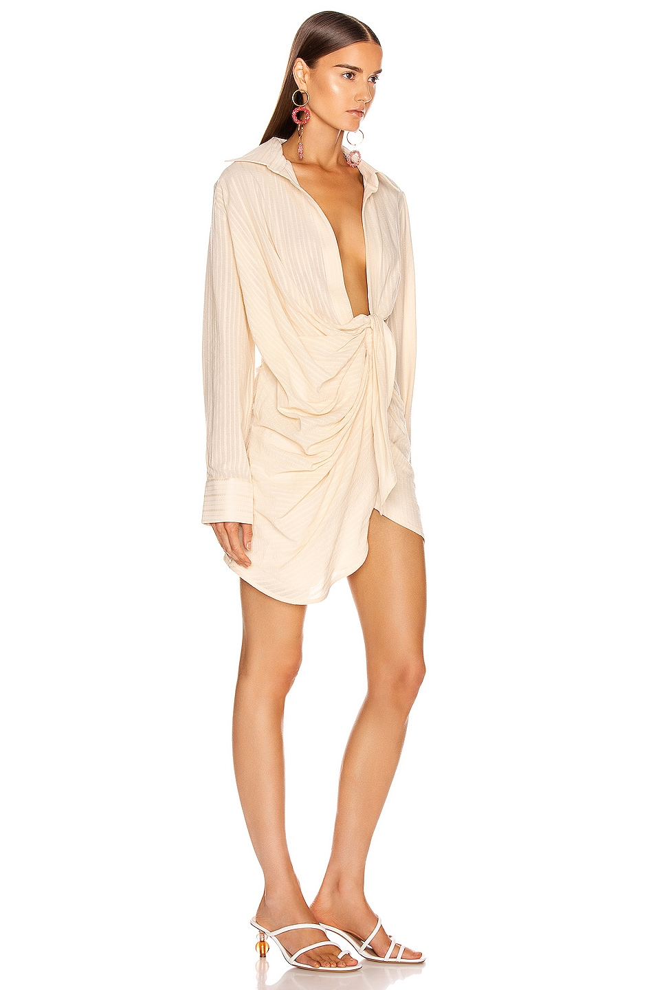 Image 2 of JACQUEMUS Bahia Dress in Beige