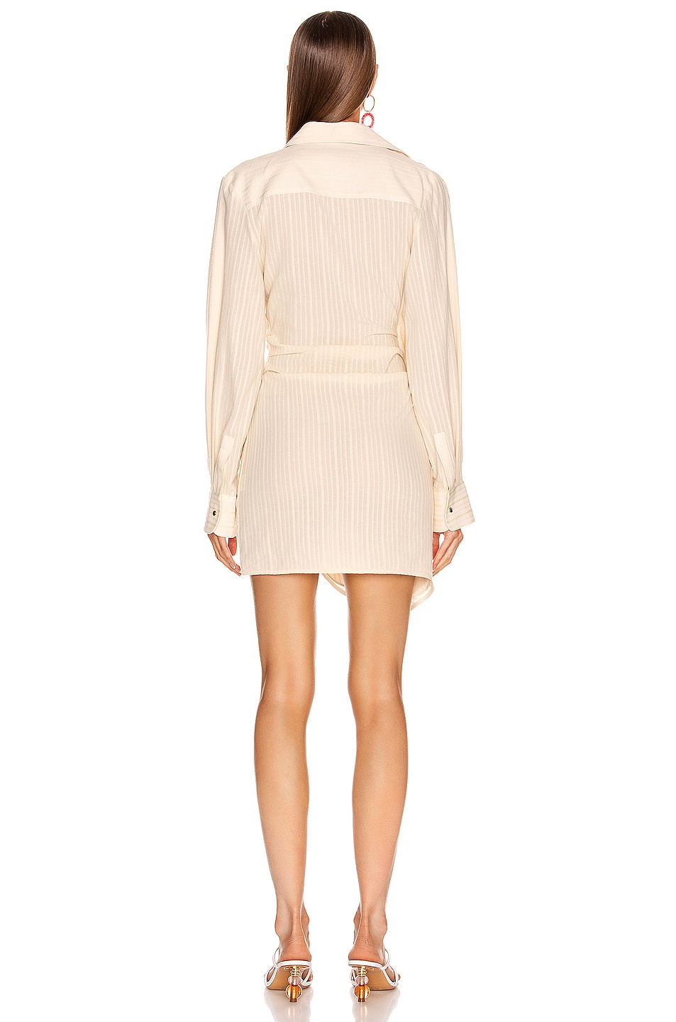 Image 4 of JACQUEMUS Bahia Dress in Beige