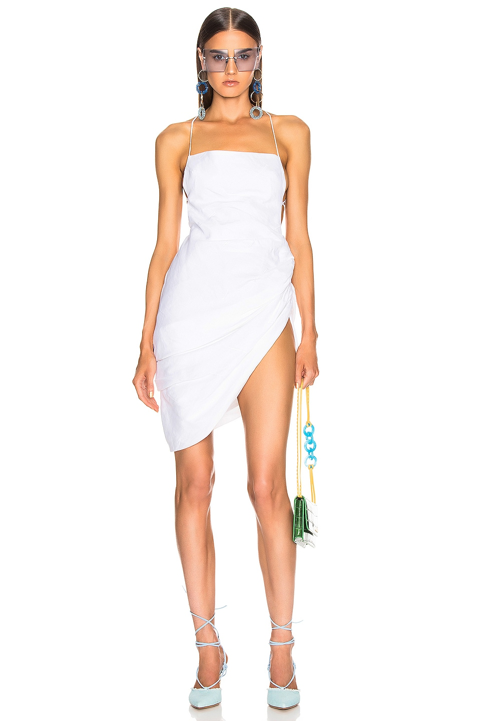 Image 1 of JACQUEMUS Saudade Dress in Optic White