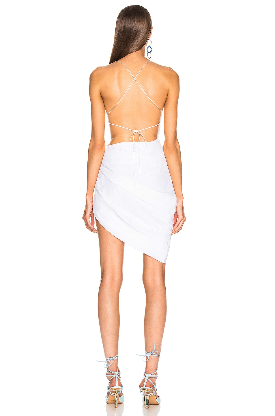 Image 4 of JACQUEMUS Saudade Dress in Optic White