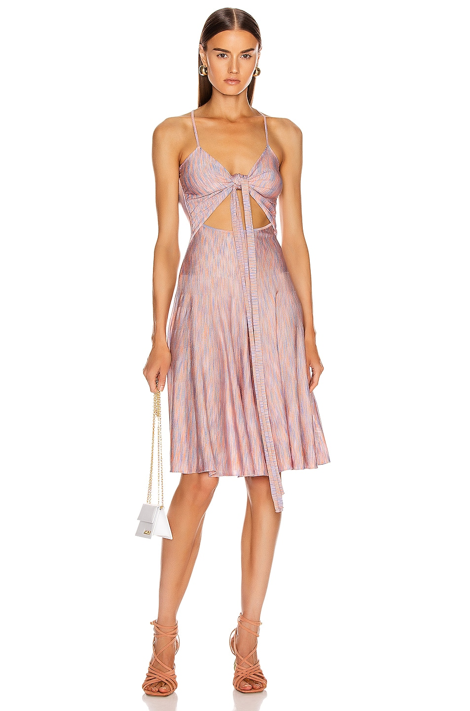 Image 1 of JACQUEMUS Monaco Dress in Multi Pink