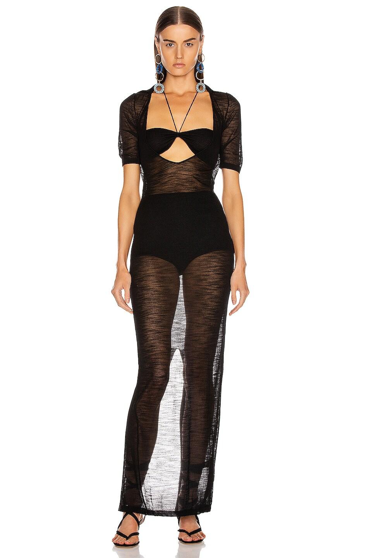 Image 1 of JACQUEMUS Piana Longue Dress in Black