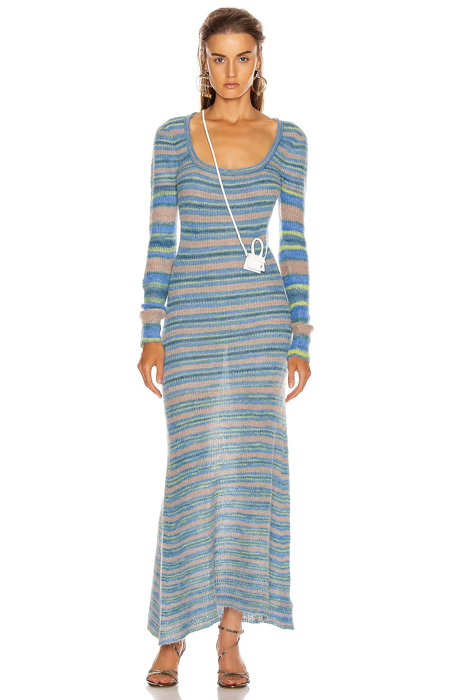 Image 1 of JACQUEMUS Perou Dress in Stripe Blue