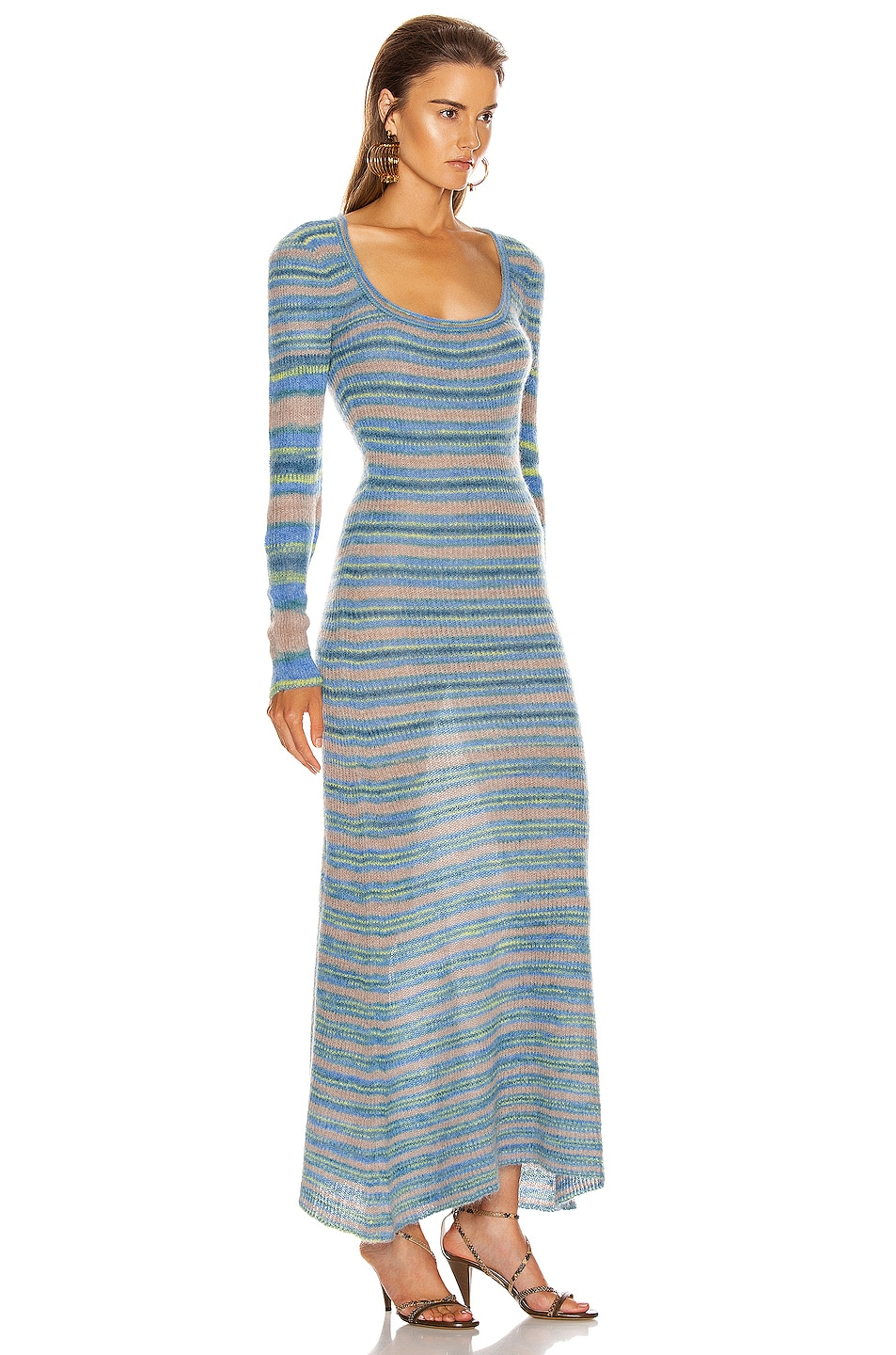 Image 2 of JACQUEMUS Perou Dress in Stripe Blue