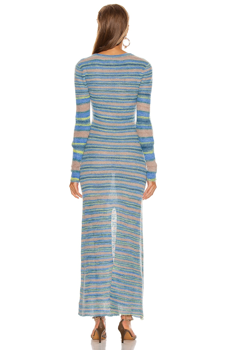 Image 3 of JACQUEMUS Perou Dress in Stripe Blue