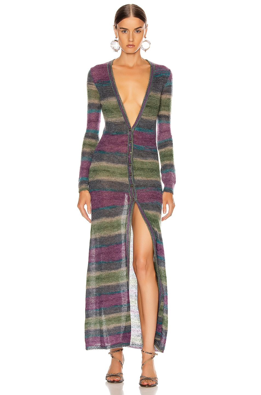 Image 1 of JACQUEMUS Gilet Dress in Stripe Purple