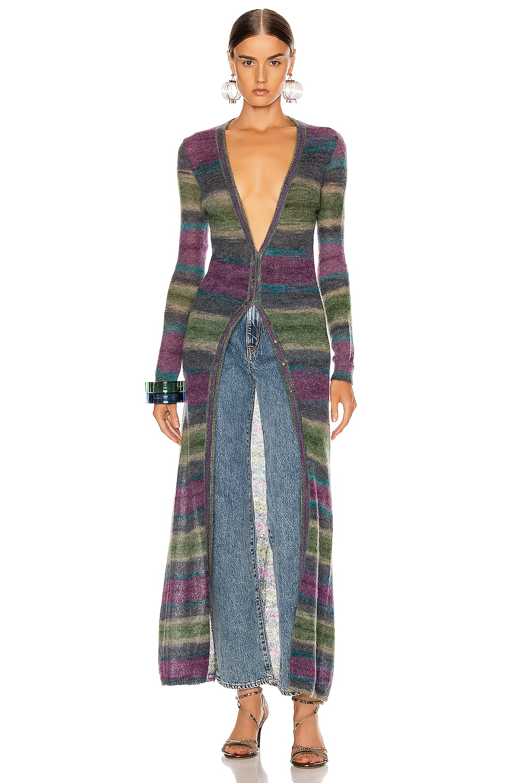Image 2 of JACQUEMUS Gilet Dress in Stripe Purple