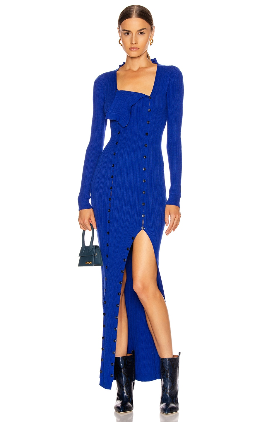 Image 1 of JACQUEMUS La Robe Maille Azur in Blue