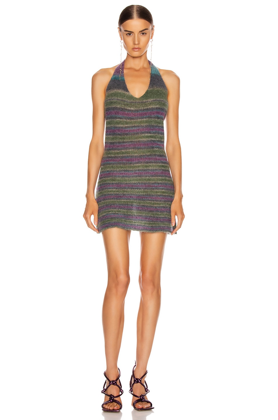 Image 1 of JACQUEMUS La Robe Tropea in Purple Striped