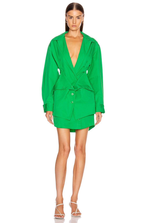 Image 1 of JACQUEMUS La Robe Murano in Green