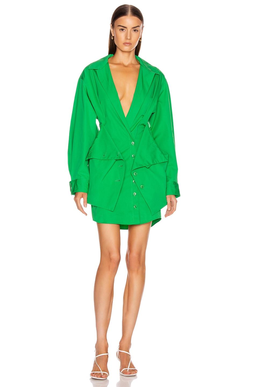 Image 2 of JACQUEMUS La Robe Murano in Green