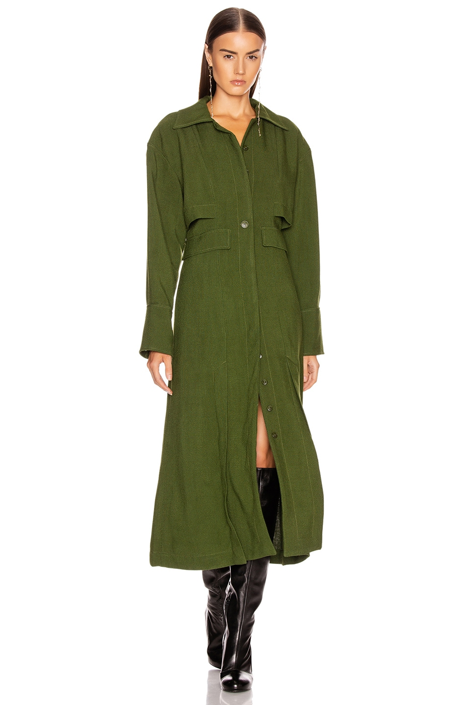 Image 1 of JACQUEMUS Monceau Dress in Green