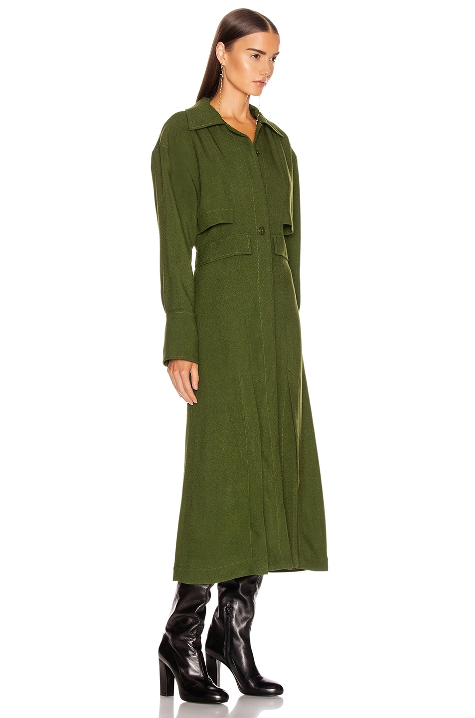 Image 2 of JACQUEMUS Monceau Dress in Green