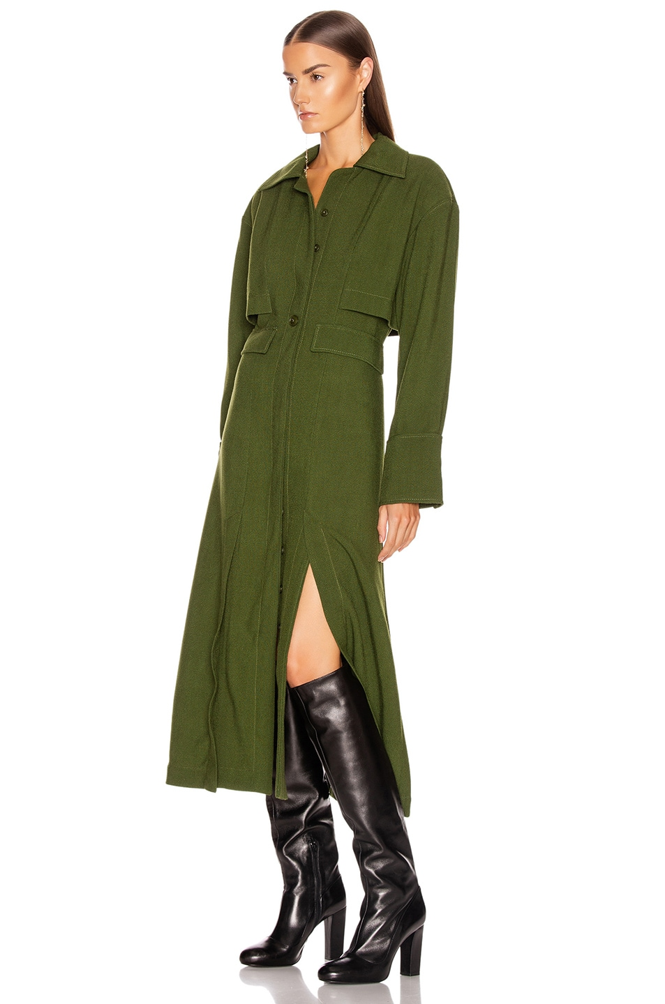 Image 3 of JACQUEMUS Monceau Dress in Green
