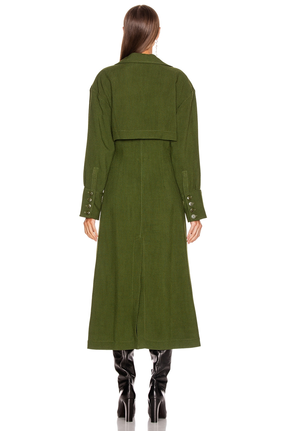 Image 4 of JACQUEMUS Monceau Dress in Green