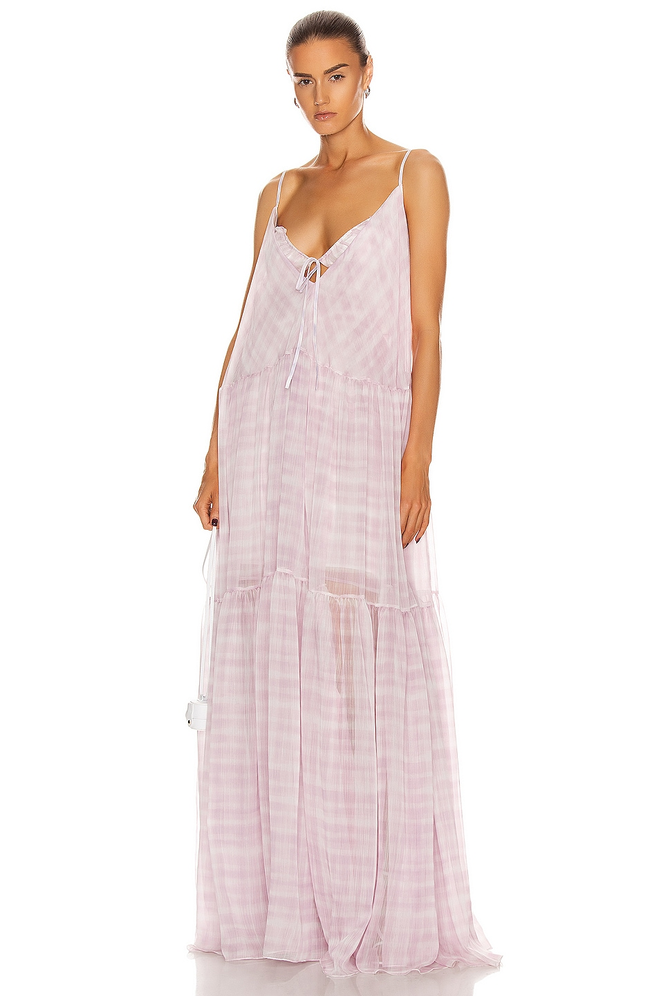 Image 1 of JACQUEMUS La Robe Mistral in Print Pink Checked