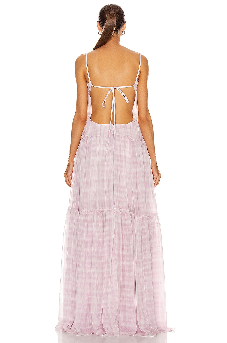 Image 3 of JACQUEMUS La Robe Mistral in Print Pink Checked