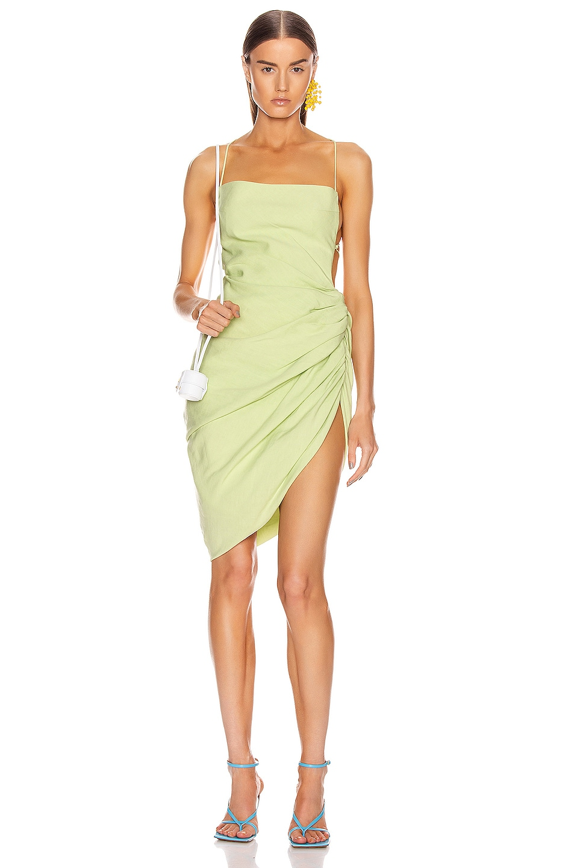 Image 1 of JACQUEMUS La Robe Saudade in Green