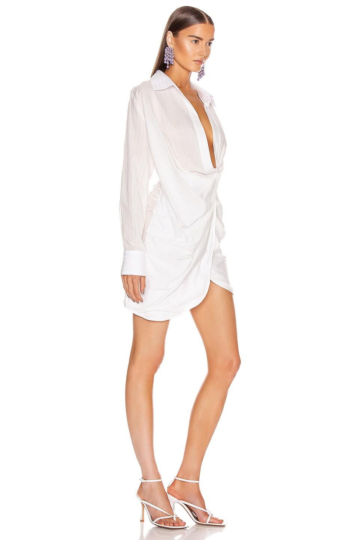 Image 2 of JACQUEMUS La Robe Bahia in White