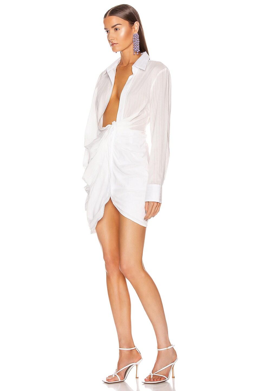 Image 3 of JACQUEMUS La Robe Bahia in White