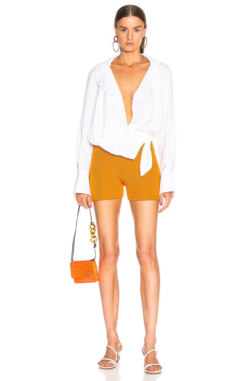 Image 4 of JACQUEMUS Arancia Short in Orange Striped