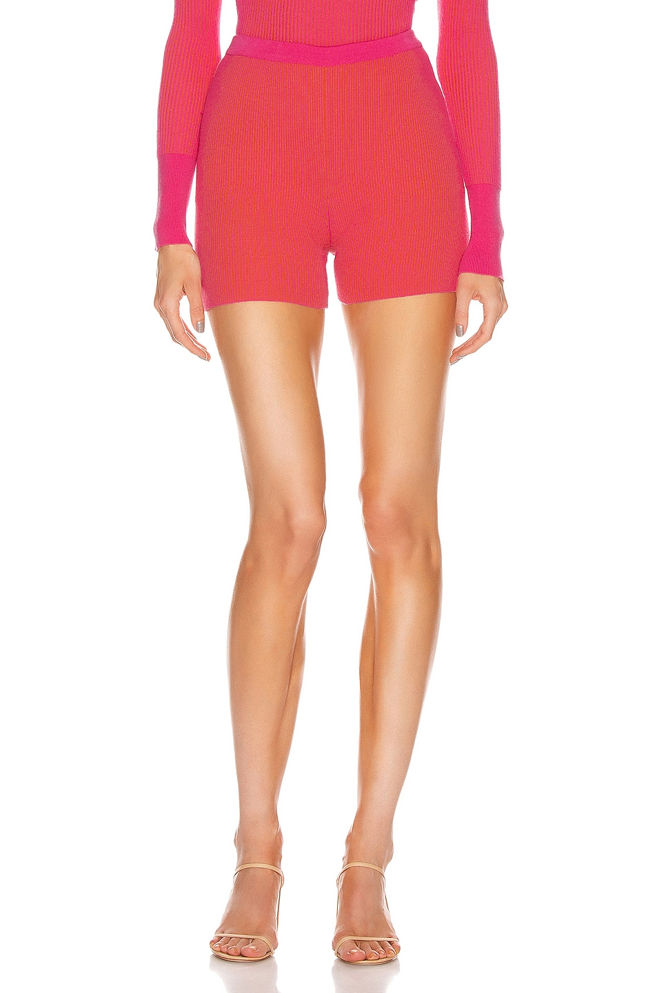 Image 1 of JACQUEMUS Le Short Arancia in Pink Striped